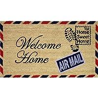 JVL - Zerbino in fibra di cocco con retro in PVC, motivo francobollo Welcome Home, 40 x 70 cm - Arredamento - Confronta prezzi