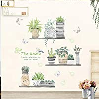 XIAOBAOZIQT Wall Sticker Decal Decals 3D Garden Plant Flower Butterfly Bird Wall Stickers Living Room Bedroom Window Cupboard Cabinet Home Decor Wall Decal Art Poster