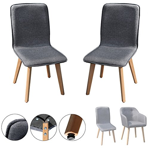 Kingpower 2/4/6/8 Set Stühle Esszimmerstühle Stuhl Sessel Armlehne Grau, Typ:Sessel;Anzahl:2