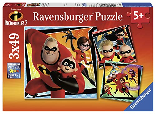 Ravensburger 08053-Die Unglaublichen, 3x 49 Teile Puzzle