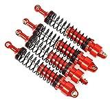 XUNJIAJIE 4 Stück 100mm Stoßdämpfer Shock Absorber Set für RC Crawlers Auto Axial SCX10-II 90046