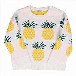 belababy Niñas de punto piña Imprimir Pullover Sweater