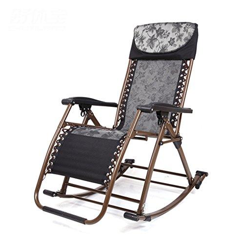 L&J Klappbarer schaukelstuhl,Tragbare Liegestühle Verstellbare Liege für Balkon-Picknick am Strand...