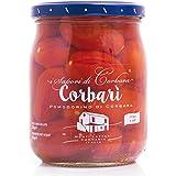 Corbari - Corbara de tomates en agua con sal 520 Gr. - Caja de 12 piezas