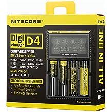 Inteligente Pantalla LCD con 4 Ranuras Cargador de Batería Disparador Universal para AA AAA Litio 26650 18650 16340 Pila Recargable Cargando