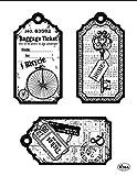 Viva Decor Silikon Fahrrad Stempel Tags, transparent