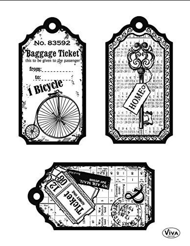 Viva Decor®️ Clear-Stamps (Fahrrad) Silikon Stempel - Prägung Stempel - DIY Dekoration stanzen - Stempel Silikon - DIY Stamp - Stempel Prägung - Made in Germany