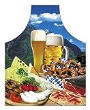 Küche Schürze = Bayerische Brotzeit = Küchenschürze Geschenkschürze Kochschürze Alpen Bier Weisswurst Spassschürze mit Aufdruck - Das Original von ITATI