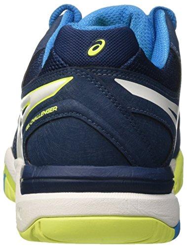 Asics Gel-challanger10, Scarpe da Tennis Uomo Multicolore (Poseidon/White/Safety Yellow)