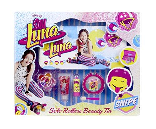 Disney Soy Luna Beauty-Set für Mädchen (Schminke für Lippen und Augen) in stylischer XL Metalldose mit Soy Luna-Print