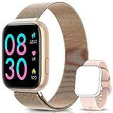 BANLVS Smartwatch, 1.4 Inch Reloj Inteligente IP67 con Pulsómetro Presión Arterial, Monitor de Sueño Podómetro Contador de Caloría, Smartwatch Mujer Reloj Inteligente para Hombre Mujer Niños