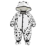 Baby Rompers with Footies Hat Boys Girls Hooded Jumpsuit Infant Winter Outfits Set for 0-12 Months