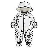 Baby Overall Mit Kapuze Footies Strampler Schneeanzüge Karikatur Jumpsuit Unisex Winter Kleidungsset, 9-12 Monate
