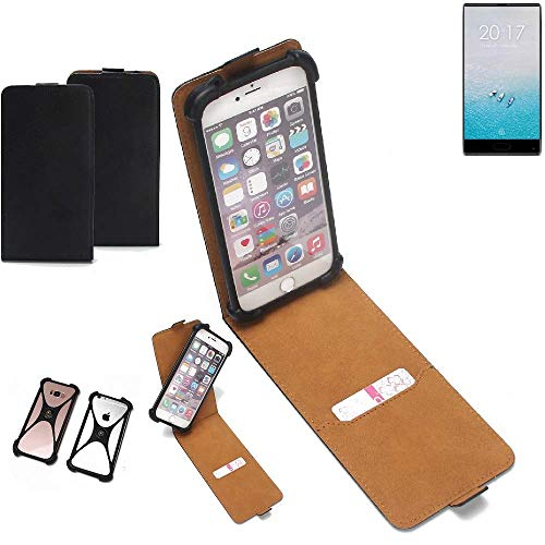 K-S-Trade Flipstyle Hülle Ulefone F1 Handyhülle Schutzhülle Tasche Handytasche Case Schutz Hülle + integrierter Bumper Kameraschutz, schwarz (1x)