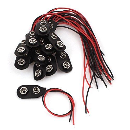 14 St. Dual Kabel 9V Batterien Clip Steckverbinder Batteriefassung Schnalle DE de Dual-batterie-kabel
