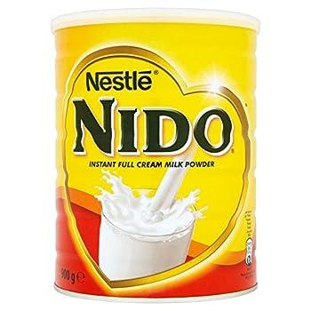 Nestle Nido poudre de lait entier - crème instantanée pour café et thé, enrichie avec des vitamines et minéraux et sans conservateurs ni colorants ajoutés - boîte de 900g - paquet de 6unités