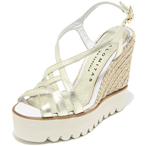 8584I sandali zeppe donna PALOMITAS metal crispado scarpe shoes sandals women [40]