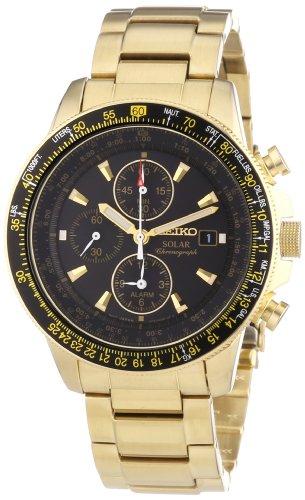 SEIKO SSC008P2 – Reloj de Caballero movimiento de cuarzo con brazalete metálico