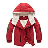 Kinder Jungen Daunenjacke Winterjacke Steppjacke kinder Lange Herbst Winter Jacket Wintermantel Mantel Parka Outerwear Orange 140