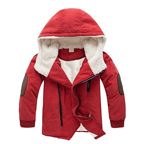 Kinder Jungen Daunenjacke Winterjacke Steppjacke kinder Lange Herbst Winter Jacket Wintermantel Mantel Parka Outerwear Orange 140 (Orange Winter Mantel)