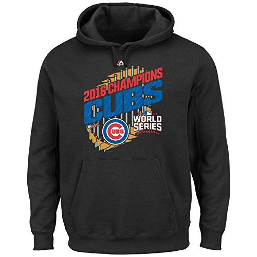 Majestic Chicago Cubs 2016 World Series Champs Parade MLB Hoodie S (Hoodie Cub Sweatshirt)
