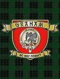 OMSC Graham Tartan plaque en métal, Clan écossais Plaid et Devise