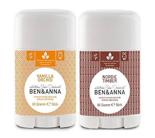 Deo Natron (Ben & Anna Deo Stick SET Vanilla Orchid & Nordic Timber)