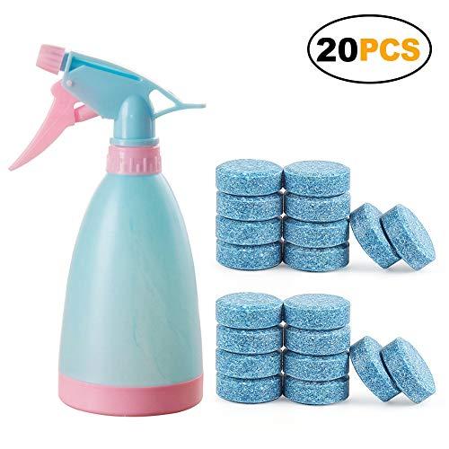 20/50/100Multifunktionale Sprudelnde Spray (zufällige Farbe) + 1Wasser Spray Topf Flasche Container 20pcS with bottle blau