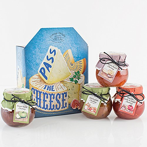 Cottage Delight Gift Set - Pass The Cheese - an Inspiring Selection of Delicious Artisan Chutneys Perfect for Pairing with Cheese