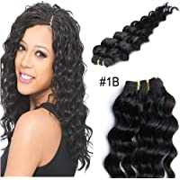 YESURPRISE – 50 g 16 cm # 1B Nero naturale Deep Wave Virgin Remy capelli umani brasiliani estensioni - Mothers Day Piastra