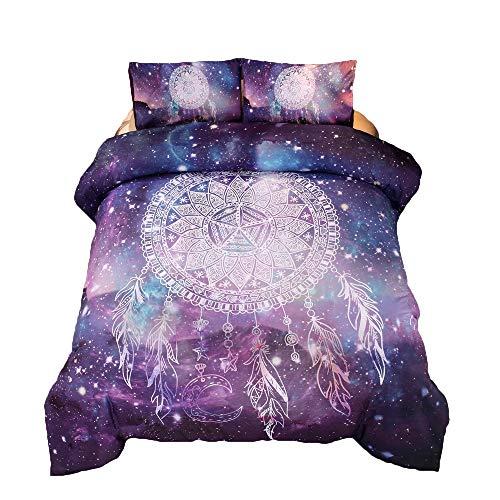 XXYHYQHJD Bettwäsche Bettbezug-Set Mythische Tiere Unicorn Galaxy Tröster Set Queen-Size-Öldruck Weltraum Bettwäsche-Sets Unicorn (Color : Wind Chimes, Size : 228 * 228)