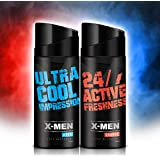 X-MEN Deodorant Body Spray AQUA+CHARGE (Combo Pack Of 2 X 150 Ml) For Men
