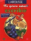 Escribir Preescolar Nivel a (Yo Quiero Saber)