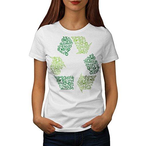 Recyceln Kasten Kunst Öko Komisch Damen S-2XL T-shirt | Wellcoda White