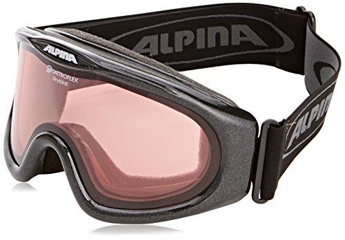 ALPINA Skybird Q Skibrille, Black, One Size