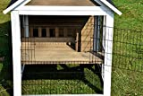 Großer dekorativer Kleintierstall XL, Kaninchenstall mit Freigehege