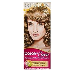 Revlon Color N Care Permanent Hair Color Cream, Light Golden Brown 6G