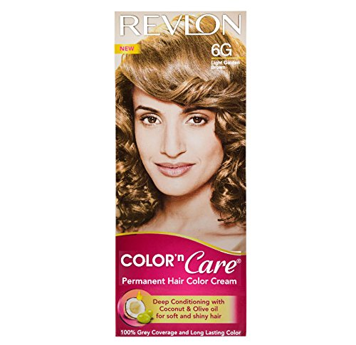 Revlon Color N Care Permanent Hair Color Cream, Light Golden Brown 6G  available at amazon for Rs.190