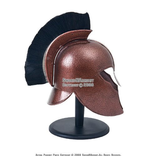 Troy Greek Achilles Trojan Medieval Helmet Armor Stand by Etrading