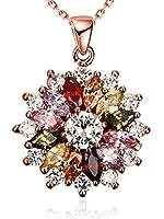 Questo è un pezzo splendido di gioielli, esattamente come descritto e visto nel picture.It è luminoso, colorato e frizzante e il regalo perfetto per un bambino o un adulto. E l'oro rosa è un bel colore, con una sfumatura rosa ad una catena d'...