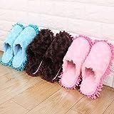 Mikrofaser Mop Hausschuhe mit Chenille  Reinigung open-slippers mit zum Aufhängen Handtücher, 3Set inklusive Chenille Reinigung Hausschuhe, Large