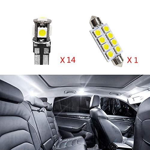 Cobear 12 V Weiß Super Helle LED Auto Innenbeleuchtung Lampen Kit für 7 Serie Ersetzen für Halogen Oder Versteckte Lampen 15 stücke