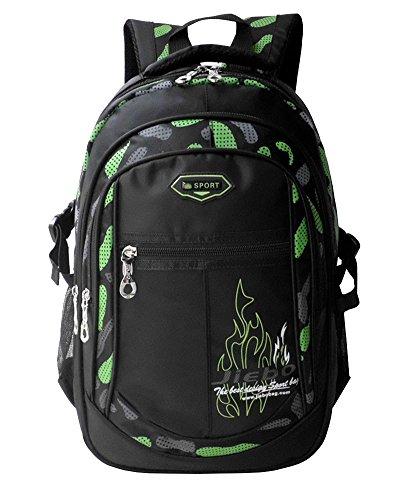 Imagen de  niño  escolares impermeable de morrales de multi función viajes volver packs verde