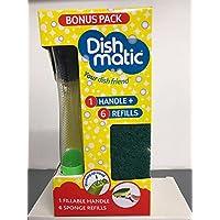 Dishmatic Bonus Pack 1rellenables asa y 6verde Esponja recargas