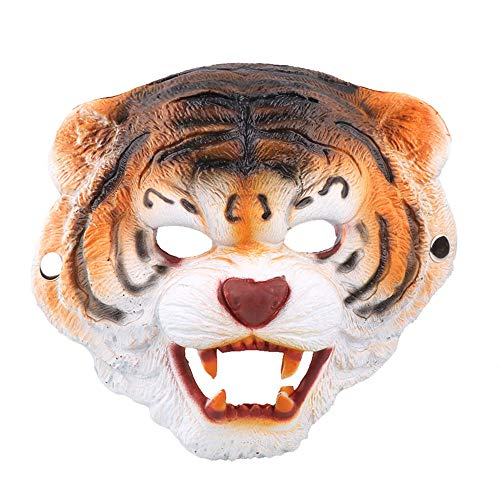 Kostüm Tiger Kinder Weiße Deluxe - Deluxe Halloween Kostüm Party Latex Tierkopf Maske AFFE, Tiger, Wolf,A