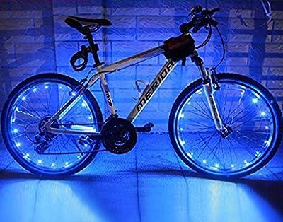 Fahrrad Licht 20 Led Fahrradreifen Beleuchtung Reifen Rad Licht Lampe Felgenlicht, 2 Optionen vom Lichtmodus für 1 Rad