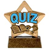 """3.25"""" Mini Star Quiz Trophy Award plus Free Engraving up to 30 Letters A1662"""