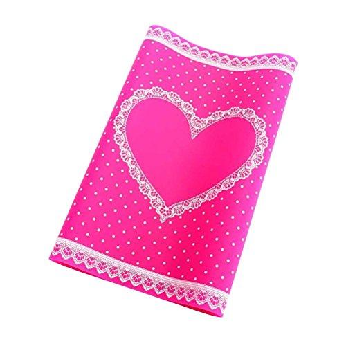 Frcolor Nagelkunst Zubehör Silikon Handauflage/ Hand Rest Pad /Tisch Matte Für Nail Art (Rosa Rot)