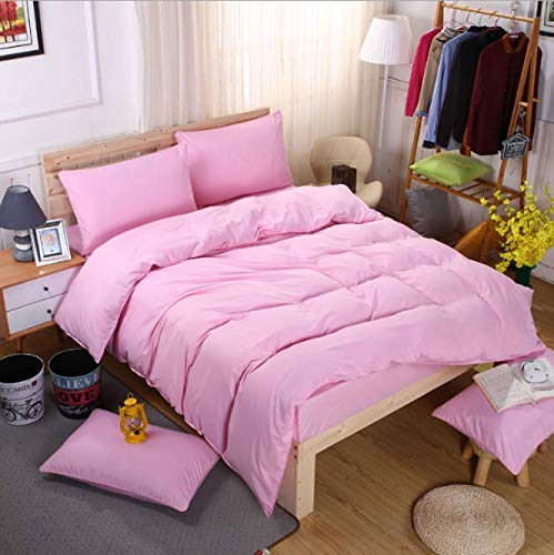 SHJIA Bettwäsche-Sets Einfache Bettlaken Bettbezug Kissenbezug Soft King Queen Full Twin A 200x230cm