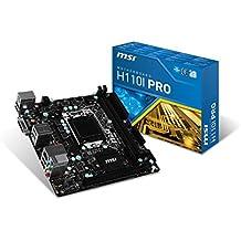 MSI Intel Skylake H110LGA 1151DDR4USB 3.1Mini ITX placa base (H110i Pro AC) MiniITX